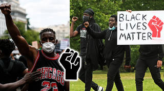 The BLM power fist has been used for years as a sign for liberation