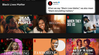 The BLM section was added to Netflix on June 10