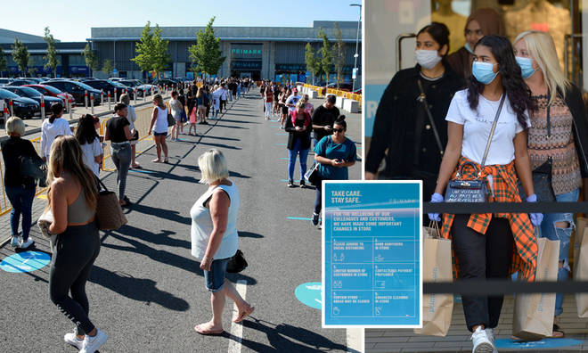 Primark reopening saw people queue in their hundreds