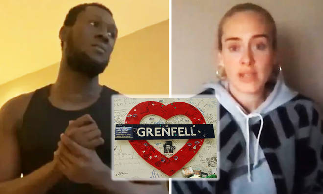 Adele and Stormzy speak during Grenfell United YouTube event