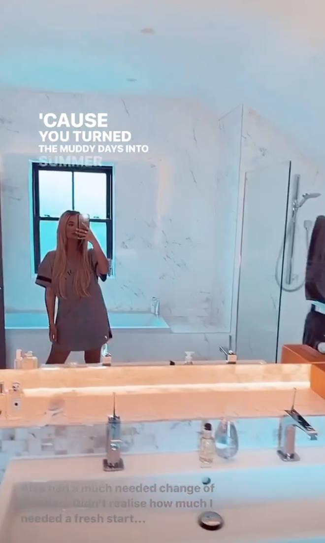 Molly-Mae showed fans inside her new bathroom