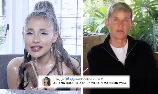Ariana Grande buys two multi-million dollar mansions, one from Ellen DeGeneres