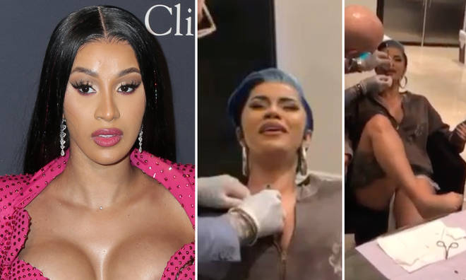 Cardi B Piercing: WATCH: Cardi B Gets Painful Piercings On Her Chest And Lip