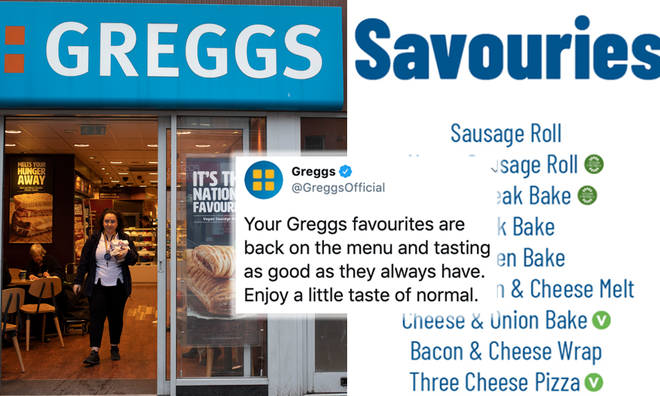 Greggs menu as it re-opens 800 branches includes sausage rolls and steak bakes
