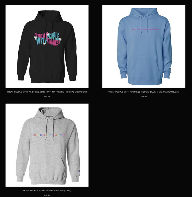 Harry Styles' 'Treat People With Kindness' hoodies are stocked in different colours