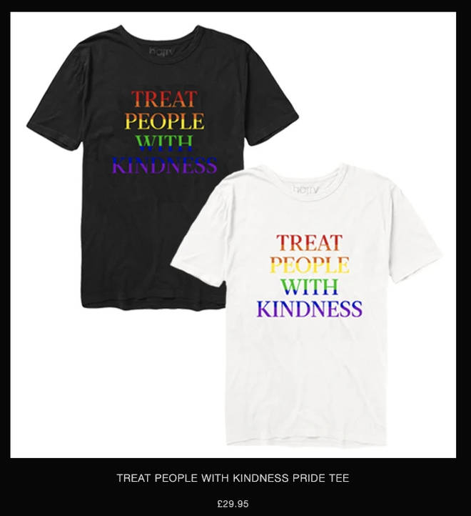 There are Pride t-shirts on Harry Styles' merch website
