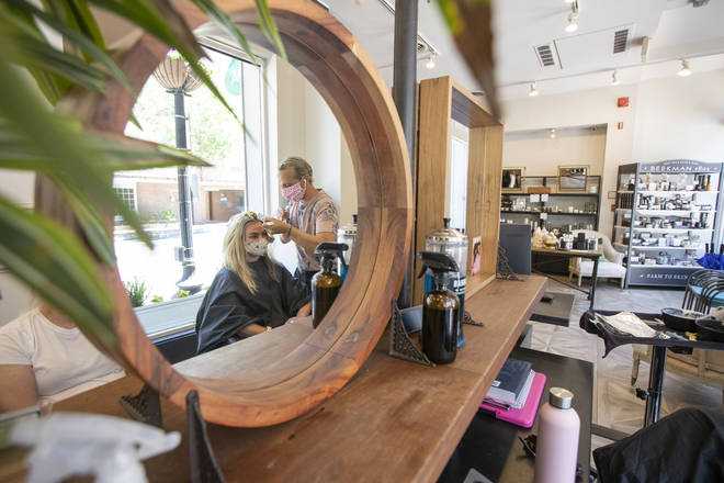 Hair salons were forced to close their doors back in March.