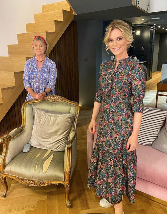 Emilia Fox is joined by her mum Joanna David for Celeb Gogglebox