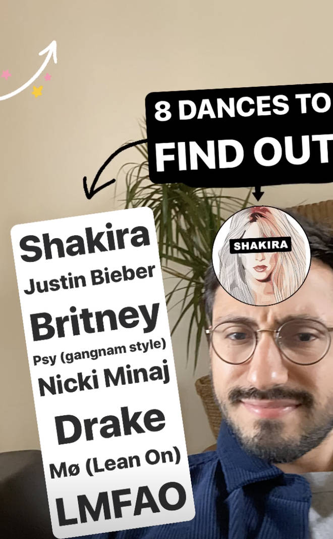 There are eight different pop stars you can dance along with