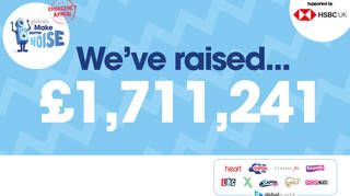 We've raised £1,711,241 for Global's Make Some Noise