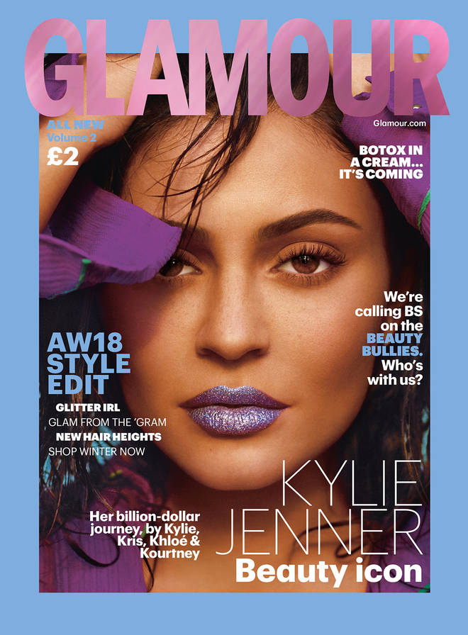 Kylie Jenner's Autumn/Winter 2018 Glamour cover.