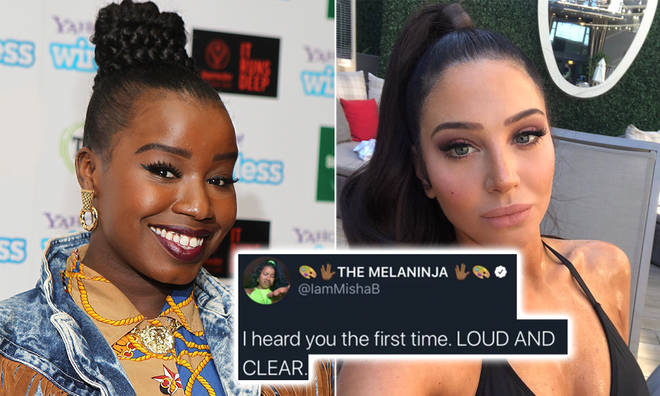 Misha B has responded after Tulisa Contostavlos reached out to her