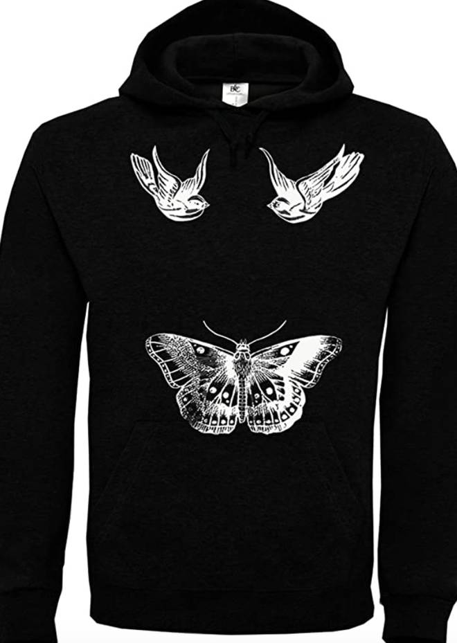 People are reselling the tattoo hoodie without all the ink