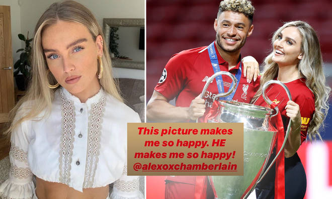 Perrie has praised her footballer boyfriend on Instagram.