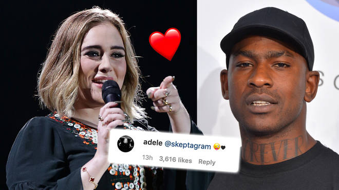 Adele and Skepta share flirty comments on Instagram