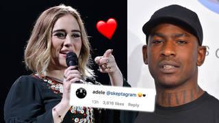Adele and Skepta share flirty comments on Instagram