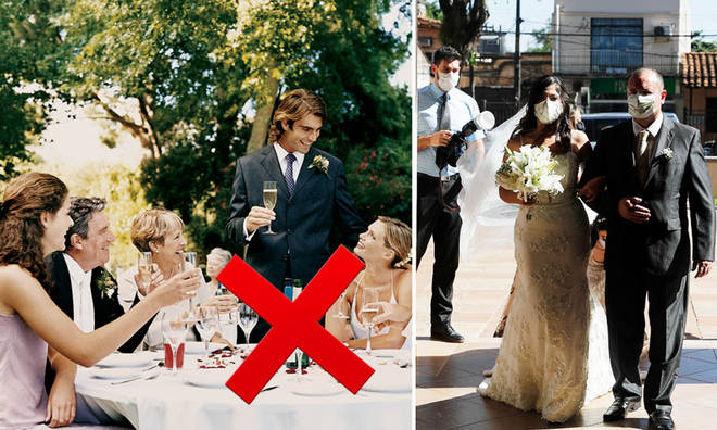 Weddings in England can only take place with up to 30 people