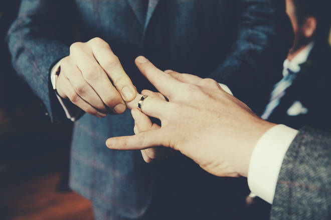 Hands must be washed before and after the rings are exchanged