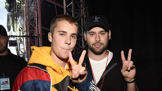 Justin Bieber and Scooter Braun One Love Manchester Benefit Concert