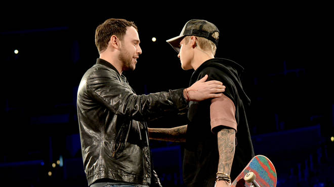 Scooter Braun and Justin Bieber - An Evening With Justin Bieber To Celebrate The Release Of His New Album 'Purpose'