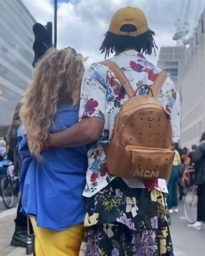 Jade Thirlwall and Jordan Stephens attend Black Trans Lives Matter march in London