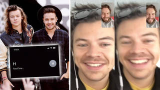 Liam Payne appears to 'FaceTime' Harry Styles