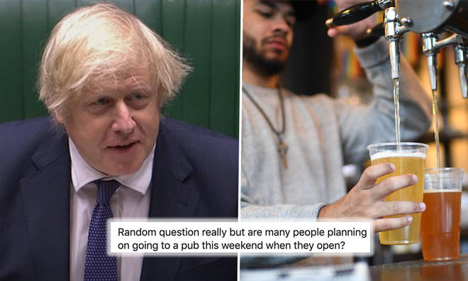 Boris Johnson's warning to the public ahead of pubs reopening on Saturday