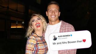 Alex Bowen And Olivia Buckland London Celebrity Sightings