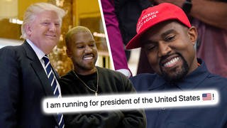 Kanye West declares he's running to be US President