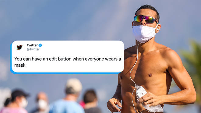 Twitter teased an 'Edit' button for those who wore masks