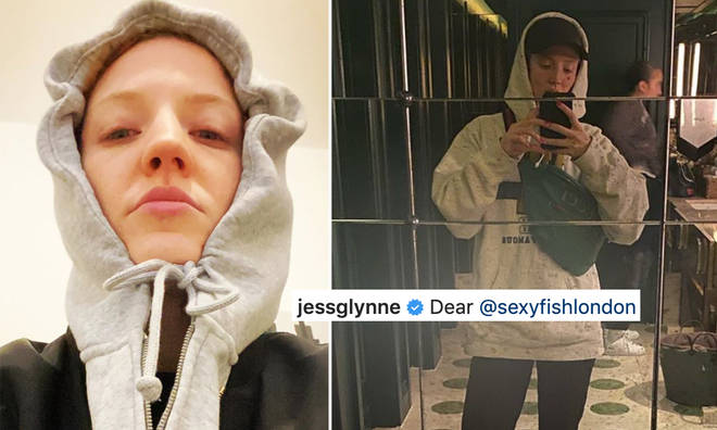 Jess Glynne has claimed she was discriminated against at Sexy Fish restaurant.