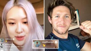 Niall Horan pops up in BLACKPINK's Rosé's Instagram live