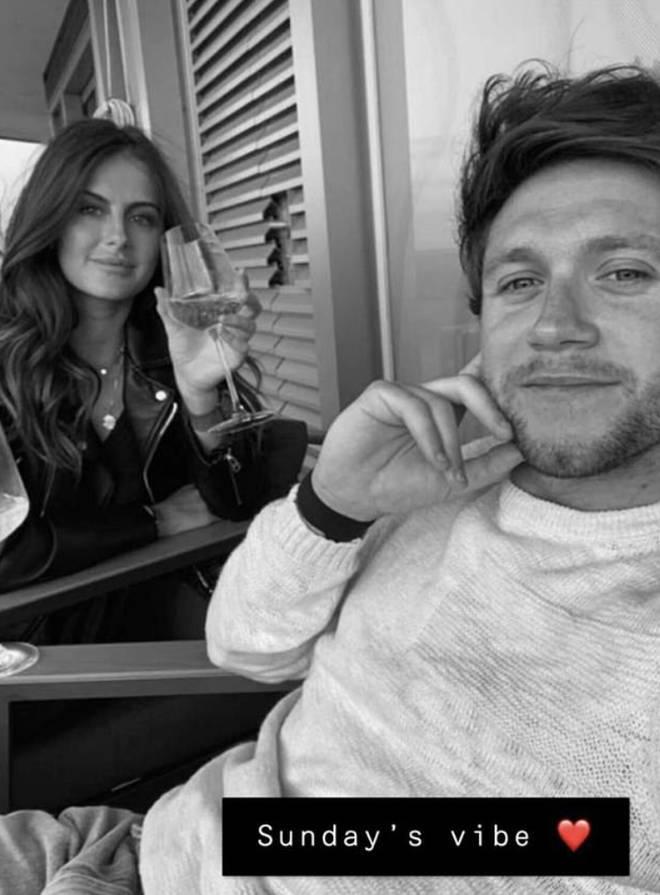 Niall Horan appeared on girlfriend Amelia Woolley's Snapchat