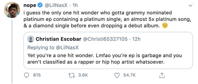 Lil Nas X shut down trolls online