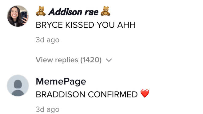 Addison Rae's fans were so here for the TikTok video with Bryce Hall