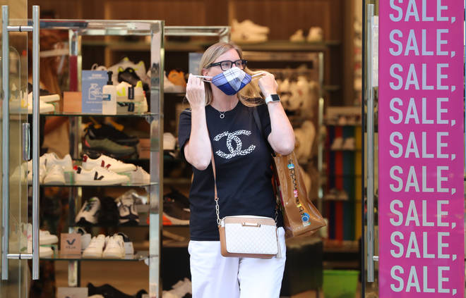Shoppers will have to wear a face mask in England from 24 July.