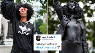 Colston statue replaced with Black Lives Matter protester in Bristol