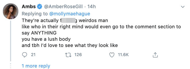 Amber Gill defended Molly-Mae