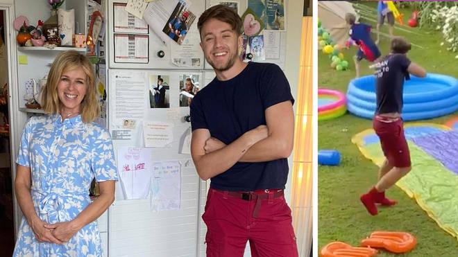 Roman Kemp surprises Kate Garraway at son's 11th birthday party