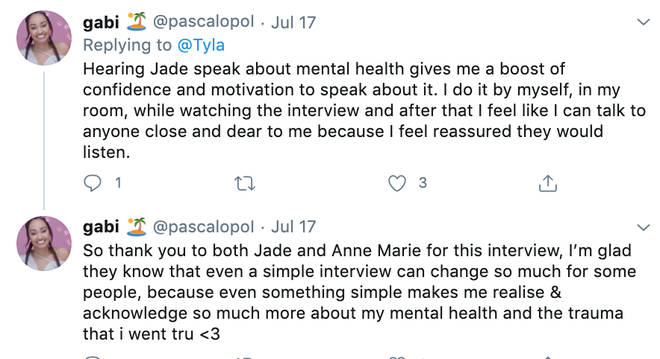 Fans praise Jade and Anne-Marie for speaking on mental health
