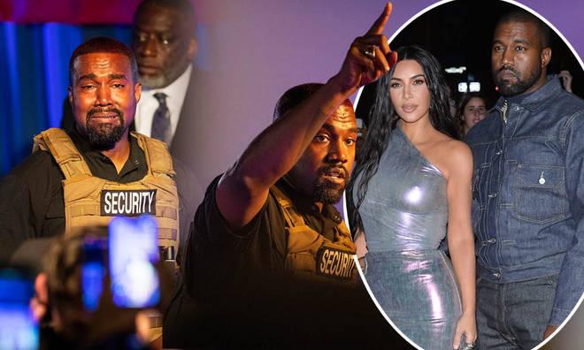 Kanye West said he's 'at peace' if wife Kim Kardashian wants to divorce him