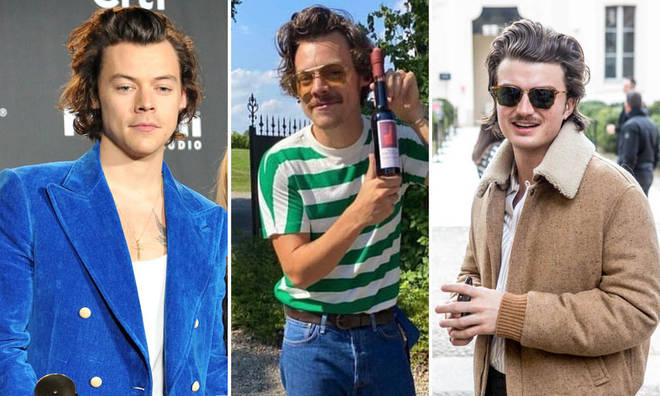 Harry Styles' moustache has fans comparing him to Joe Keery