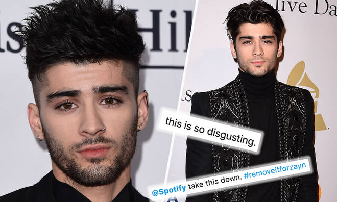 Zayn fans succeed in getting Spotify to take racist song about him taken down