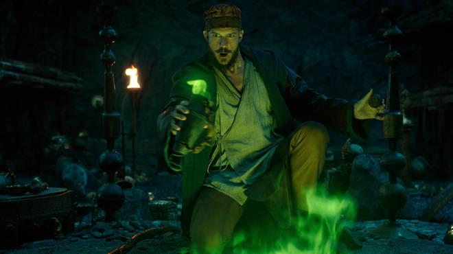 Actor Gustaf Skarsgård plays Merlin in the new Cursed cast
