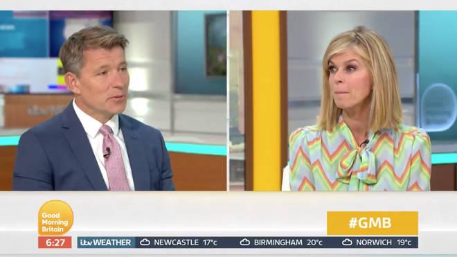 Kate Garraway explained to co-host Ben Shepherd her husband's condition