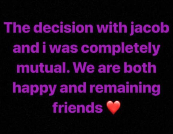 Millie Bobby Brown split with Jacob Sartorius after nine months together