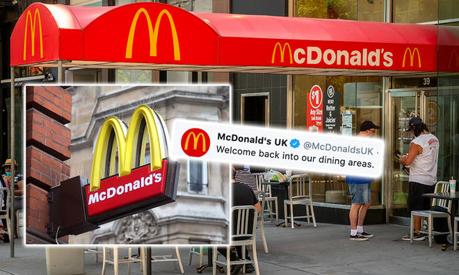 McDonald's dine-in chains are opening across the UK