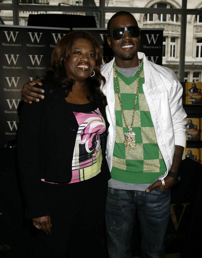 Kanye West was very close to his mum, Donda West.