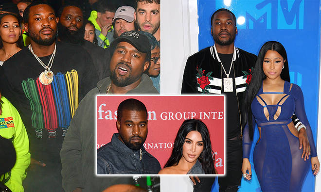 Kanye West sparked rumours that Kim Kardashian was involved with Meek Mill