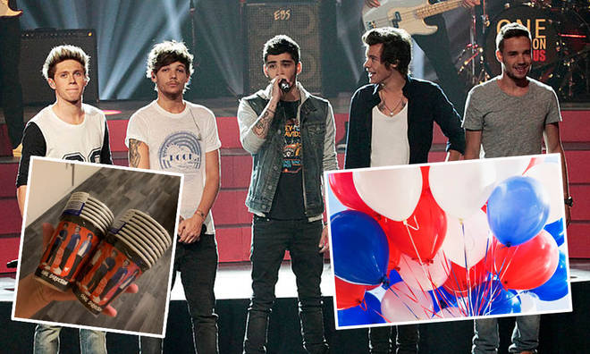 One Direction fans have been stocking up on party supplies